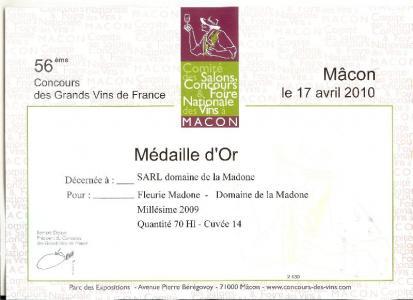 Médaille d'Or à Macon