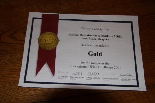 Médaille d'Or   Mai 2007
